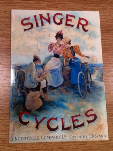 Singer cycles postcard | inkdrops.co.uk stationery subscription boxes