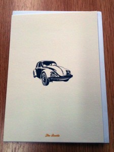 Beetle car card | inkdrops.co.uk stationery subscription boxes