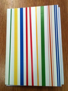 Stripes card | inkdrops.co.uk stationery subscription boxes