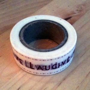 Live laugh love Washi tape |  February box | inkdrops.co.uk