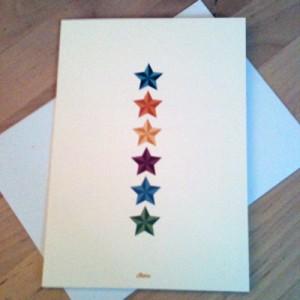 Rainbow stars card | February box | inkdrops.co.uk