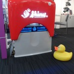 Ink Drops Duck with the biggest stamp in the world
