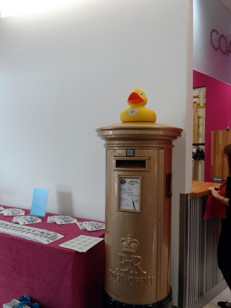 Ink Drops Duck on an Olympic letterbox