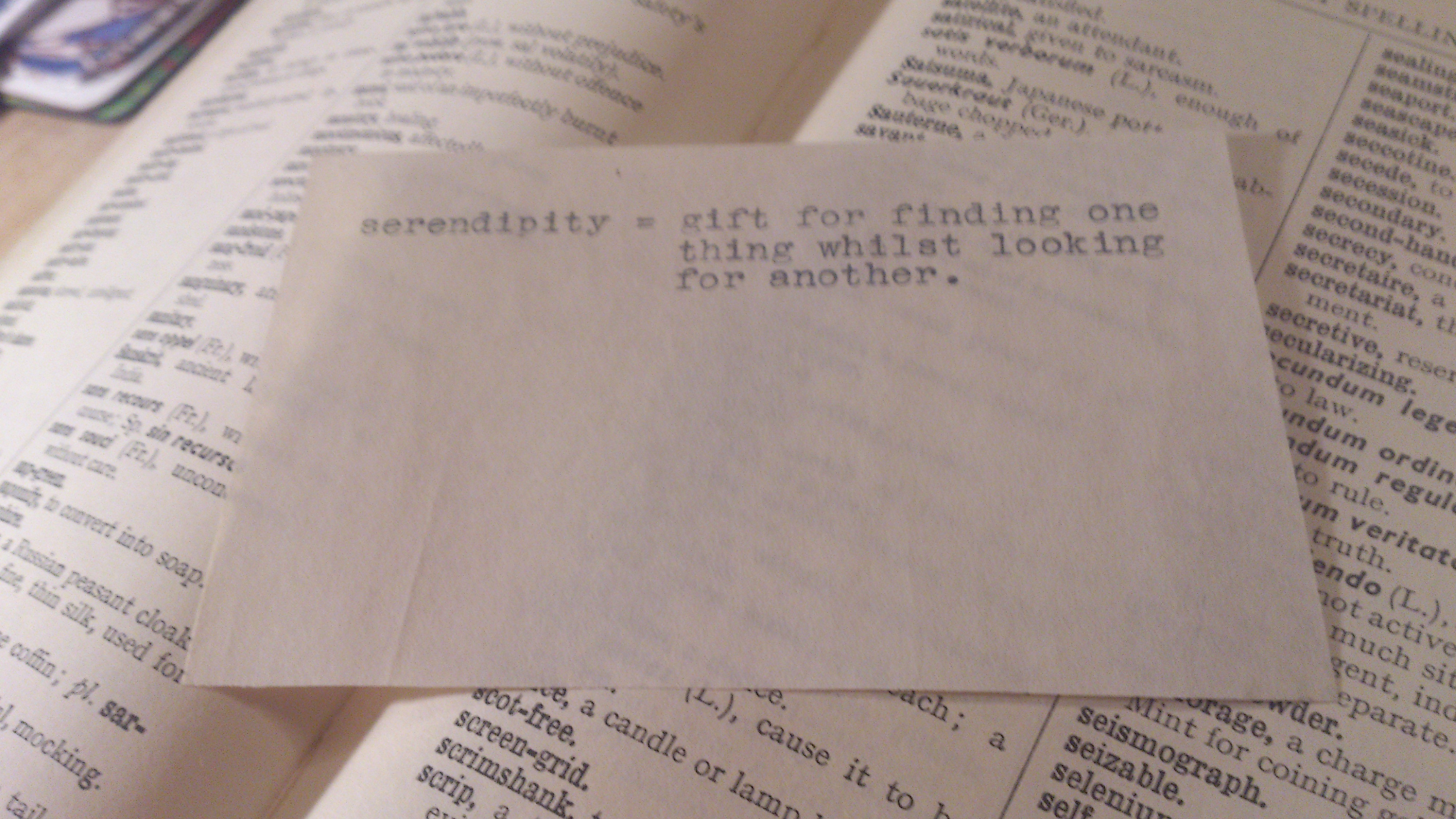Serendipity in the pages of a Typist's Desk Book