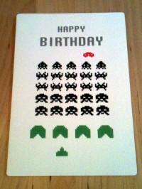 space invaders card | inkdrops.co.uk