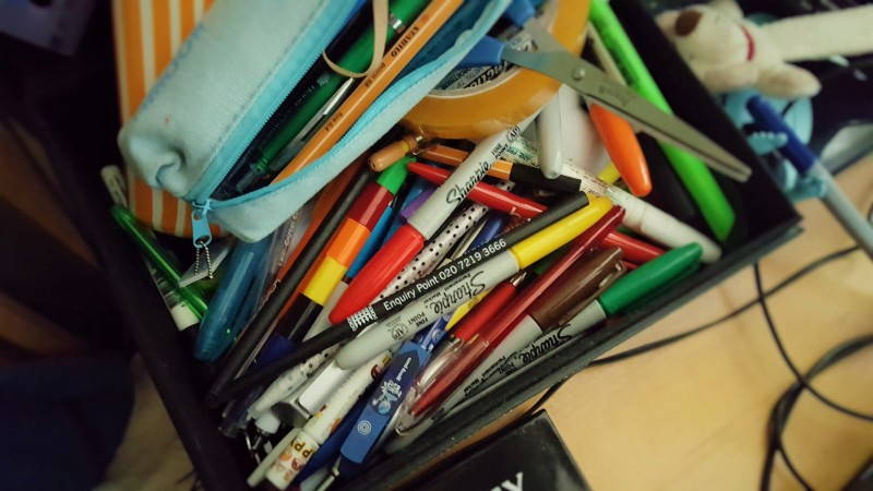 box of pens | world stationery day 2016 | inkdrops.co.uk