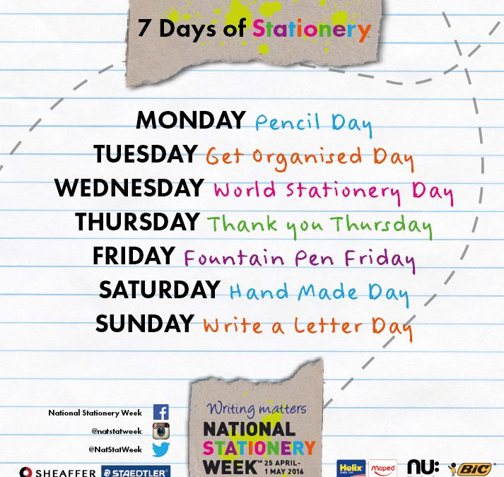 Hello National Stationery Week 2016