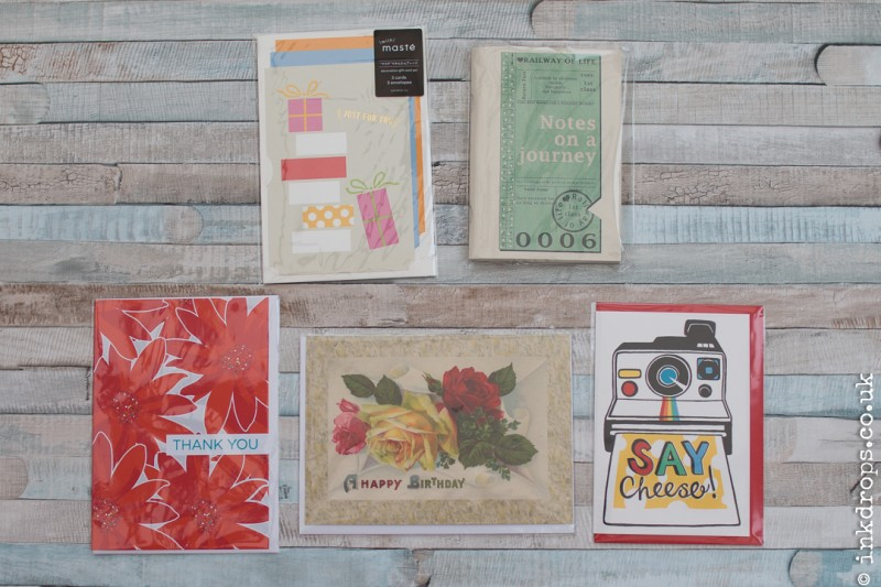 ink drops stationery subscription box contents october 2016 - treat