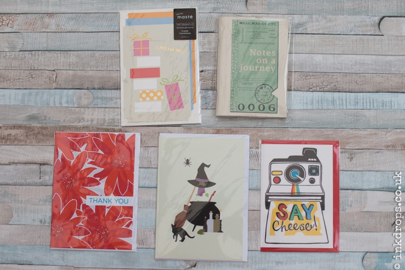 ink drops stationery subscription box contents october 2016 - trick