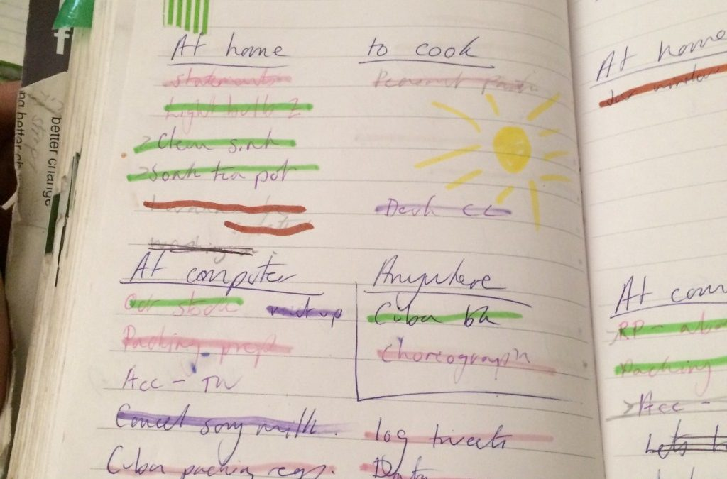 Bullet journalling in a new notebook