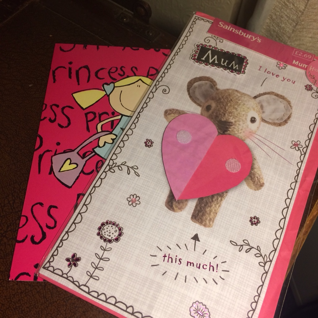 Pink greeting cards that are not right for me but might be for some one else - recycle and upcycle