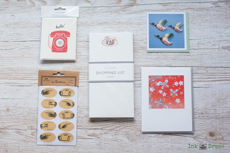 ink drops stationery subscription box contents february 2017