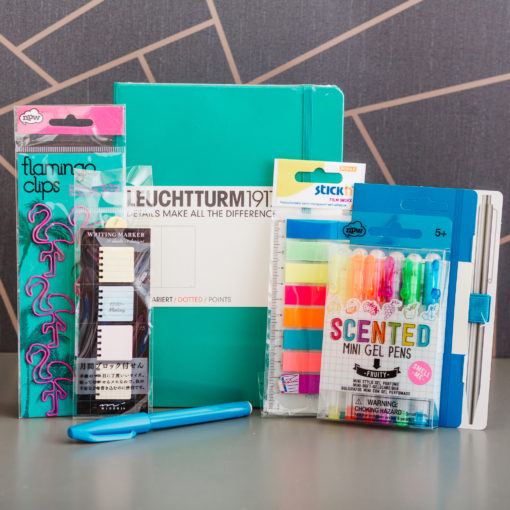 Get Bulleting, Bright & Bold edition   bullet journal box by Ink Drops stationery subscription boxes   inkdrops.co.uk