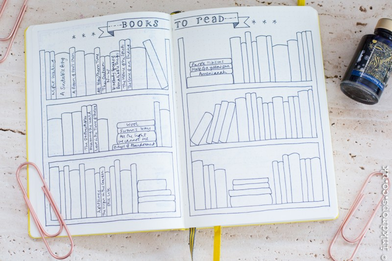 Illustrator Rhiannon Bull's bullet journal | bujo | inkdrops.co.uk