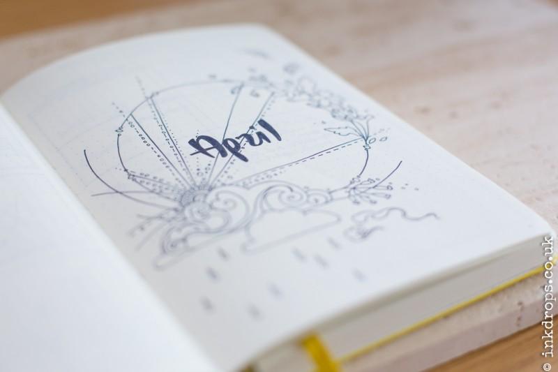 Illustrator Rhiannon Bull's bullet journal | inkdrops.co.uk