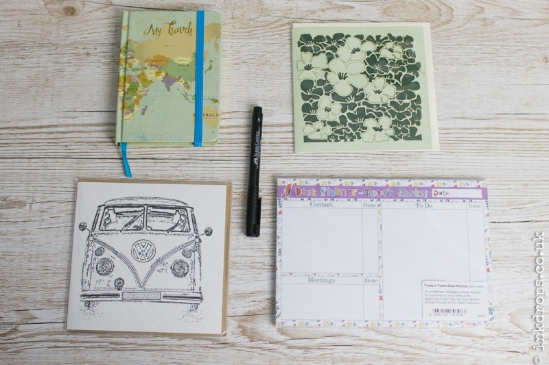ink drops stationery subscription box contents march 2017