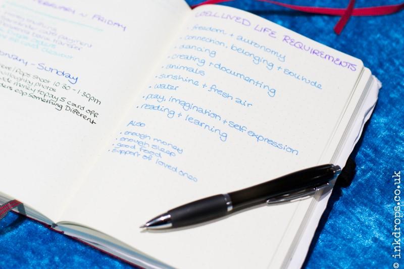 Carla's favourite January bullet journal spread | inkdrops.coi.uk
