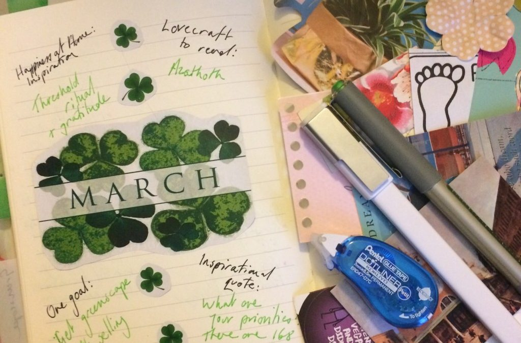 3 tips for creating monthly intention spreads in a bullet journal