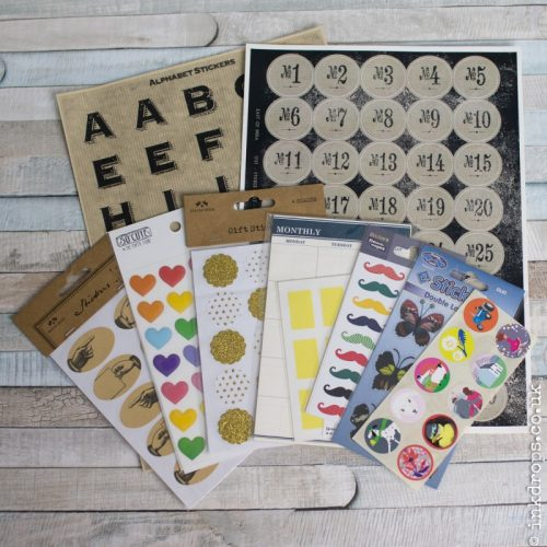 Selection of stickers | stationery and letter writing| inkdrops.co.uk