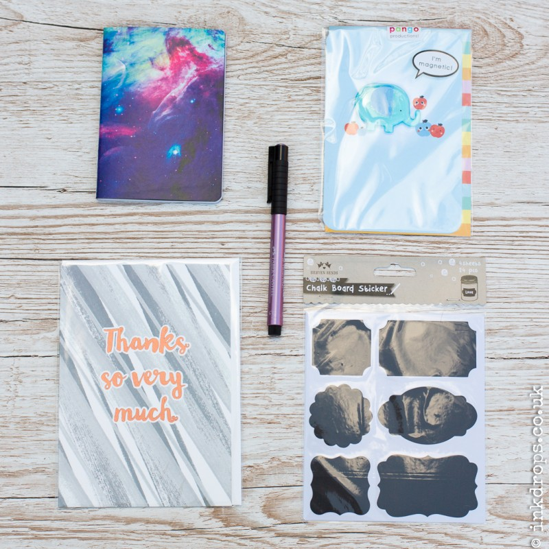 ink drops stationery subscription box contents june 2017