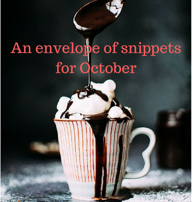 An envelope of snippets for October