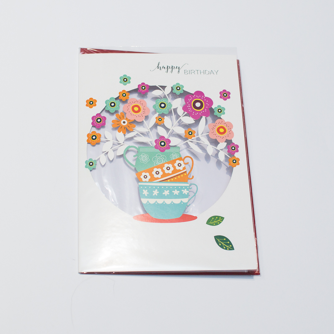 papercut flowers card | inkdrops.co.uk