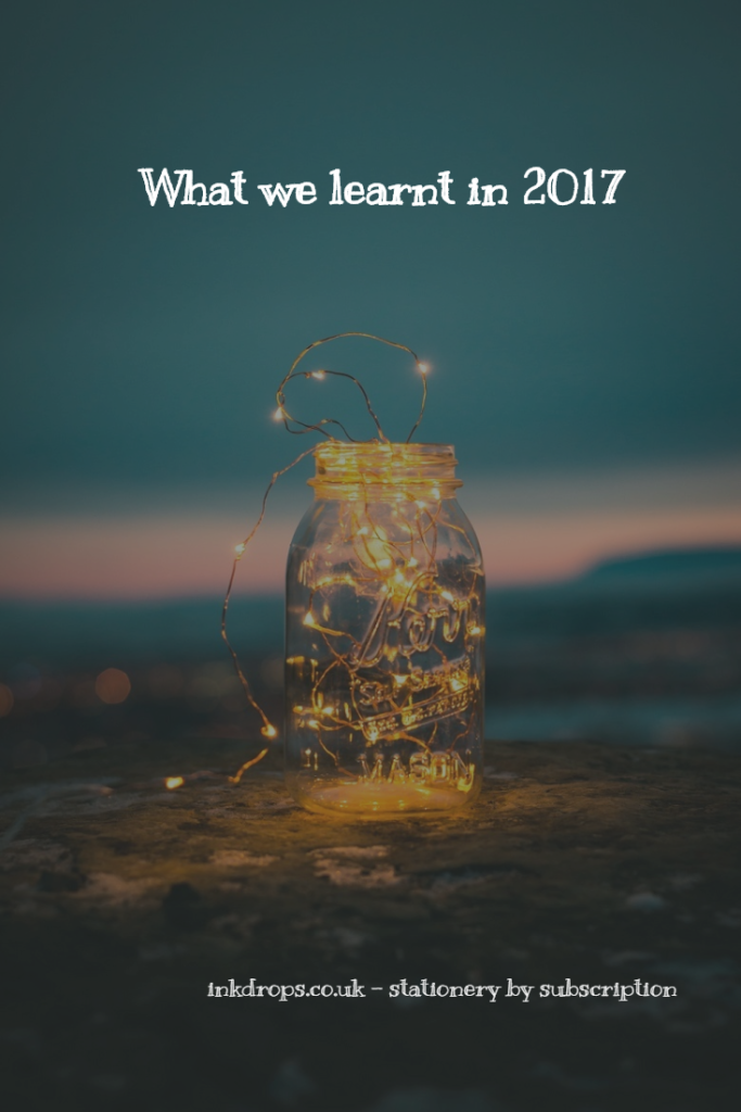 What we learnt in 2017 - inkdrops.co.uk - stationery by subscription - Photo by Steve Halama on Unsplash