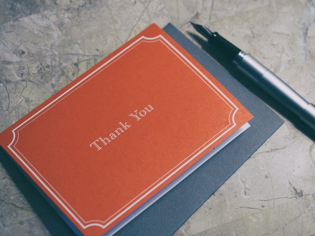 Now write your thank you letters! inkdrops.co.uk