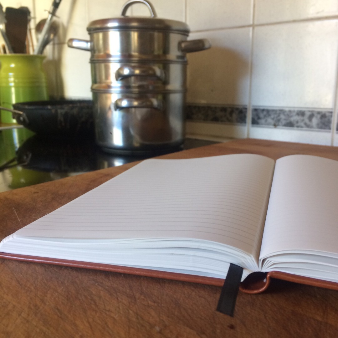 Stone Chef's notebook in the kitchen - - inkdrops.co.uk - stationery subscription boxes