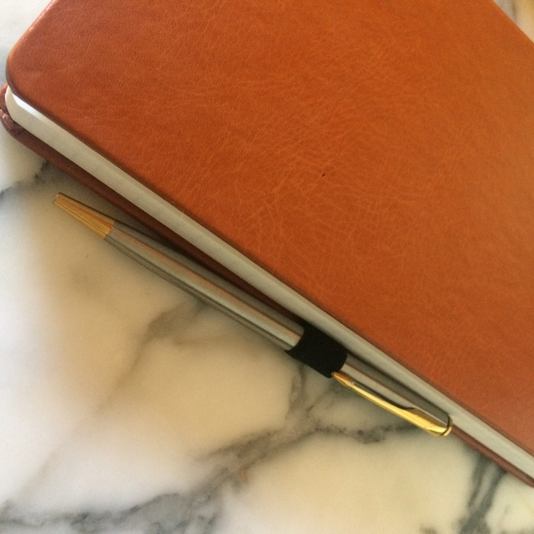 Stone Chef's notebook with metal pen - inkdrops.co.uk - stationery subscription boxes