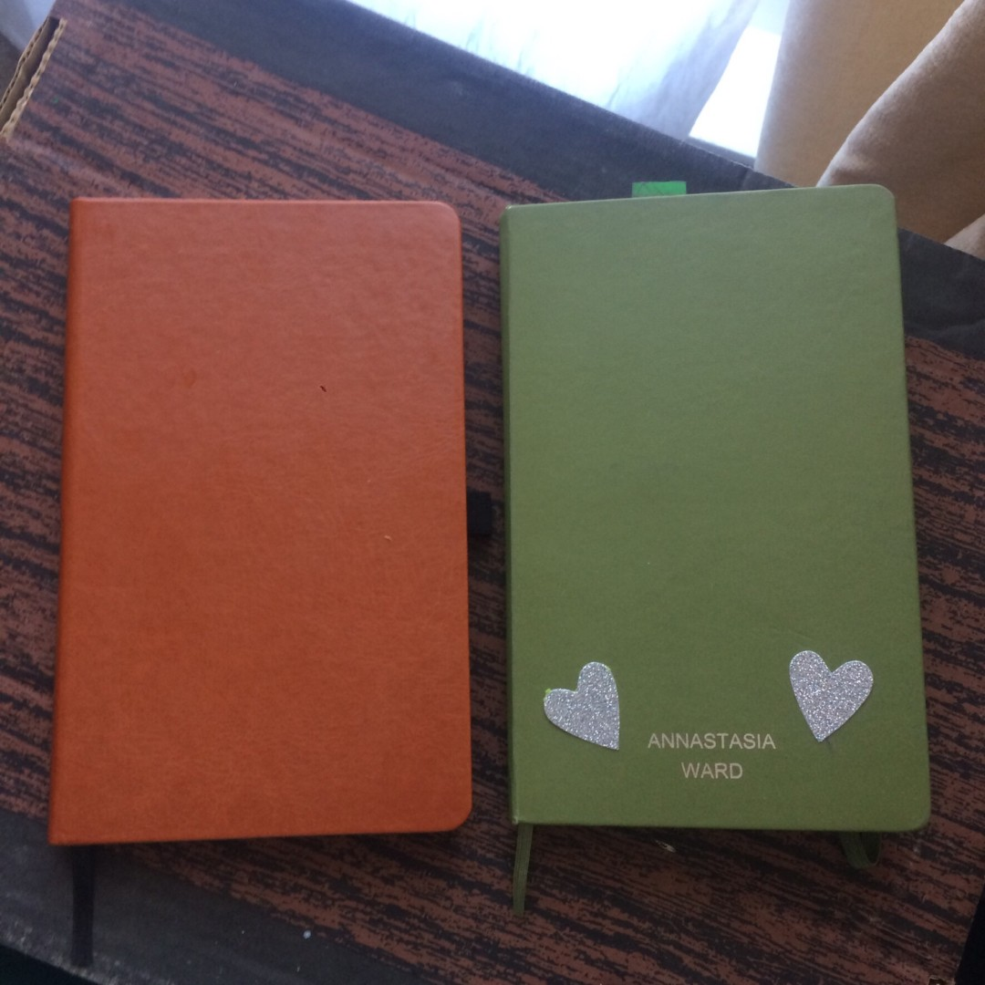 Stone Chef's notebook and green Moleskine - inkdrops.co.uk - stationery subscription boxes