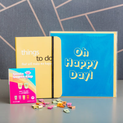 Get Happy stationery box by Ink Drops stationery subscription boxes | inkdrops.co.uk