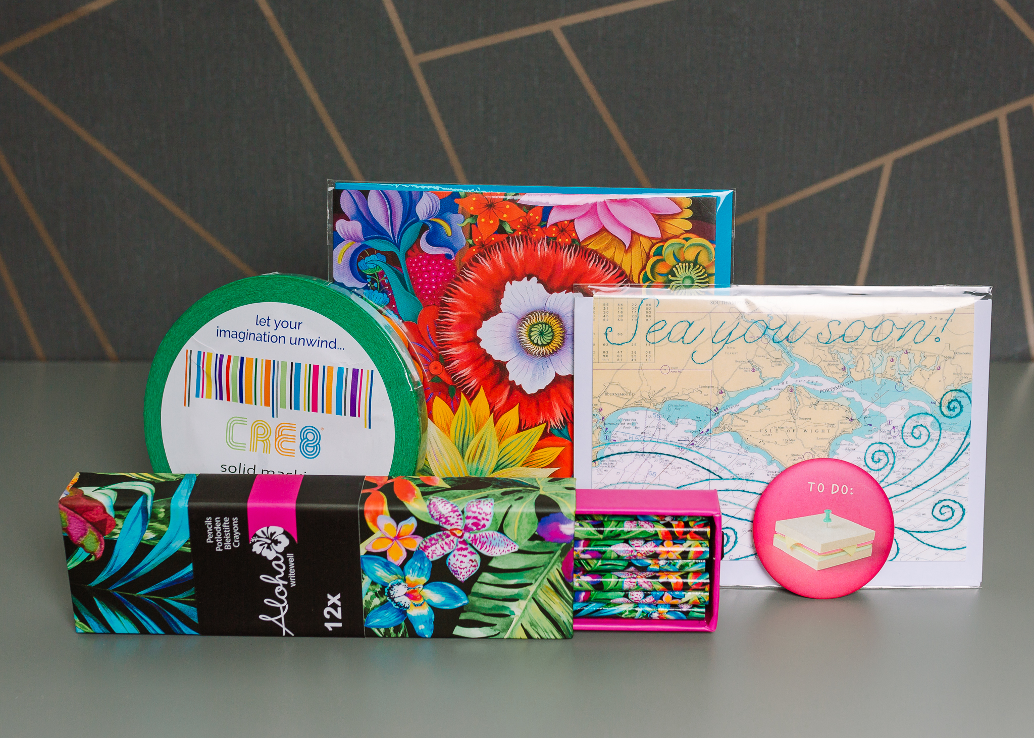 ink drops stationery subscription box contents june 2016