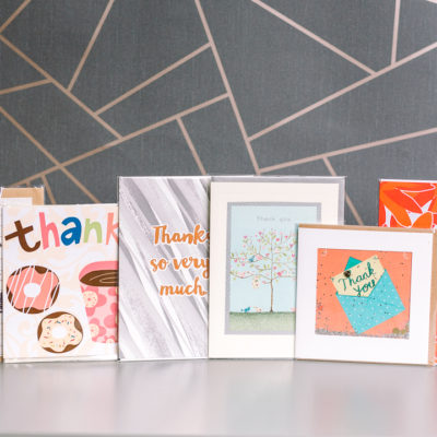 Thanks A Bundle - thank you card selection | inkdrops.co.uk