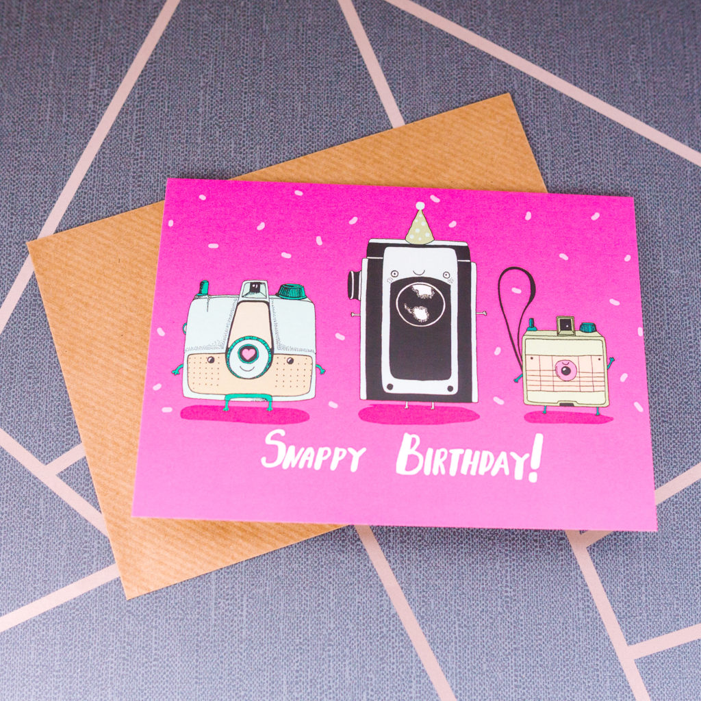 Snappy birthday card from inkdrops.co.uk - stationery by subscription