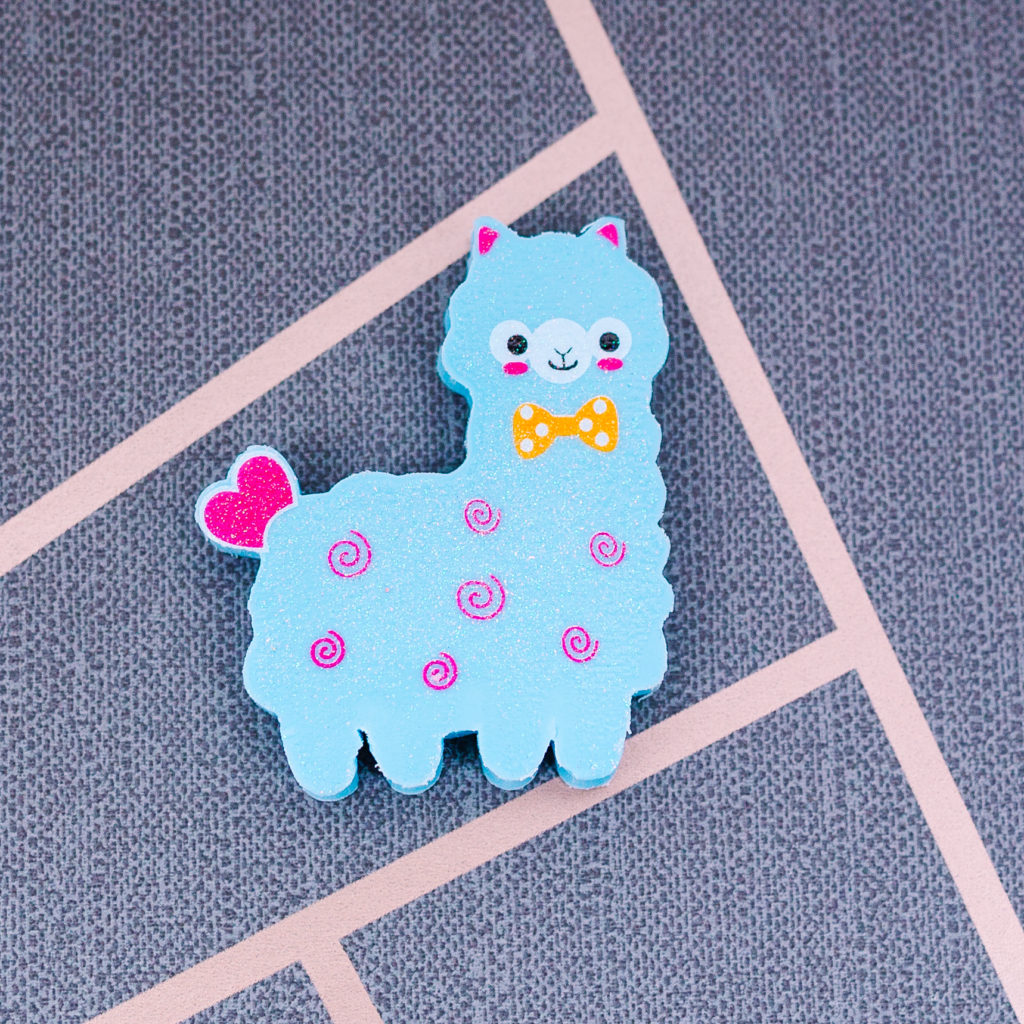 alpaca eraser from inkdrops.co.uk - stationery by subscription