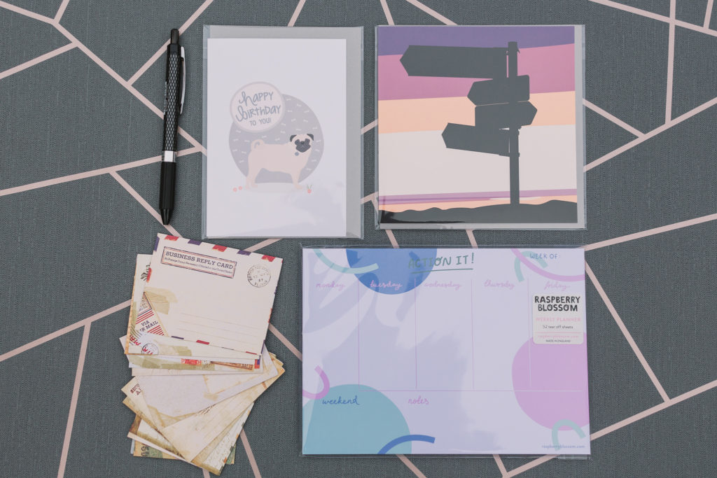 June 2019 stationery subscription box contents | inkdrops.co.uk