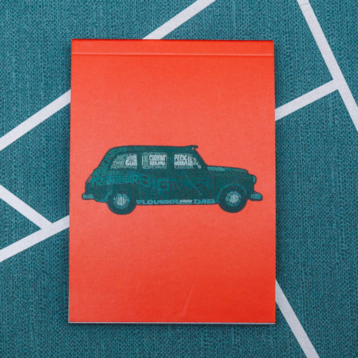 Taxi note pad from inkdrops.co.uk - stationery by subscription