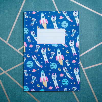 Space notebook from inkdrops.co.uk - stationery by subscription