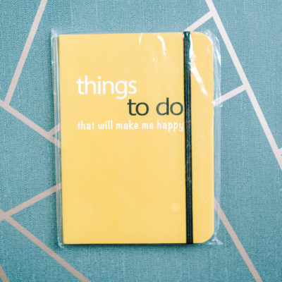 Things to do to that will make me happy notebook from inkdrops.co.uk - stationery by subscription
