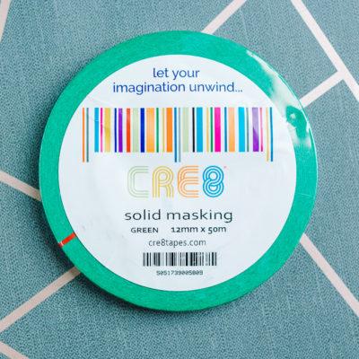 Green washi masking tape from inkdrops.co.uk - stationery by subcription