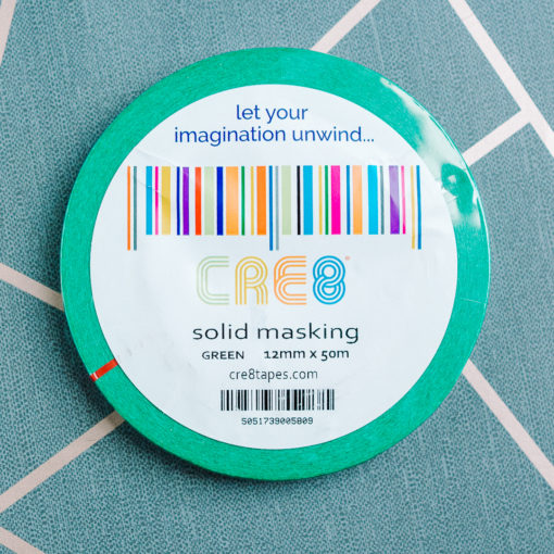Green washi masking tape from inkdrops.co.uk - stationery by subcription