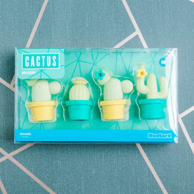 Cute cactus erasers from inkdrops.co.uk - Stationery by subscription
