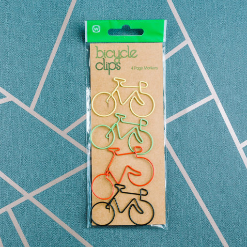 Bicycle paperclips from inkdrops,.co.uk - stationery by subscription