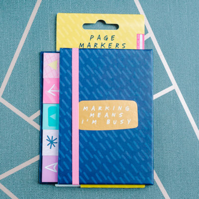 Marking means I'm busy - sticky notes and page marker selection from inkdrops.co.uk