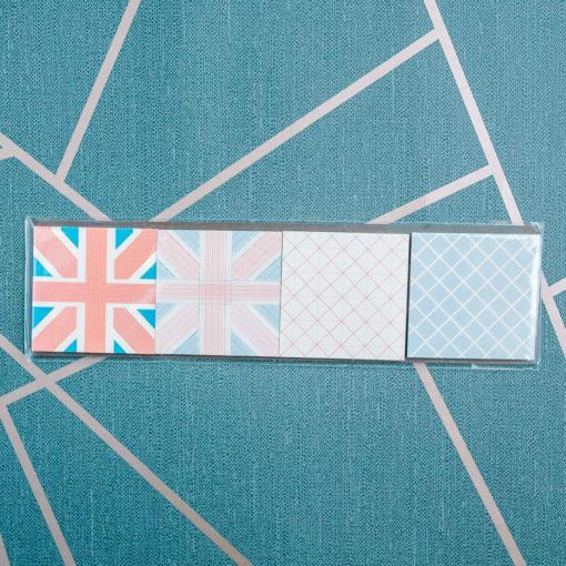 UK sticky note quartet from inkdrops.co.uk