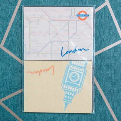London sticky duo from inkdrops.co.uk - Ink Drops stationery by subscription
