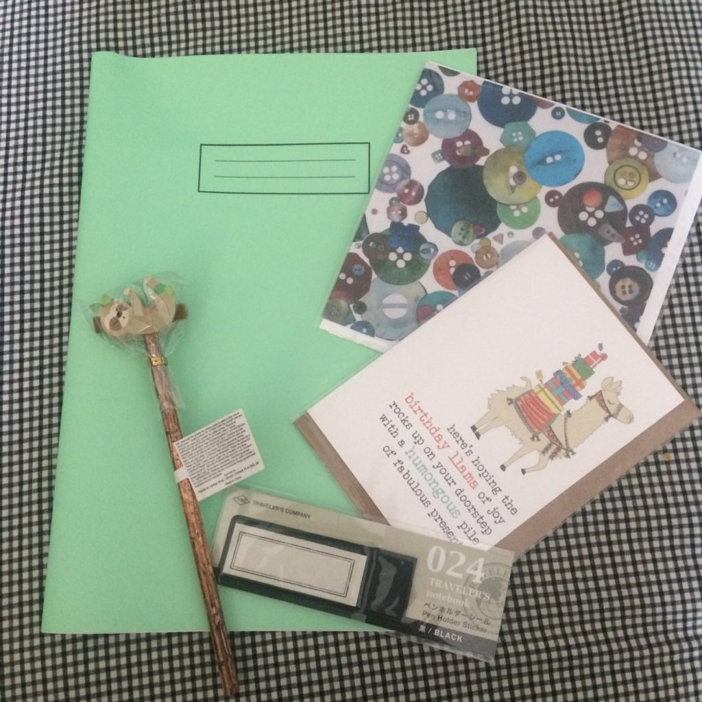 Monthy stationery subscription selection for August 2019 from inkdrops.co.uk
