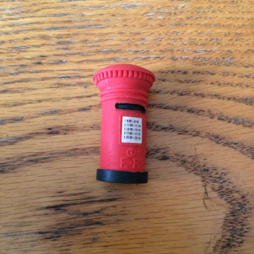 Vintage post box eraser from inkdrops.co.uk - Stationery by subscription