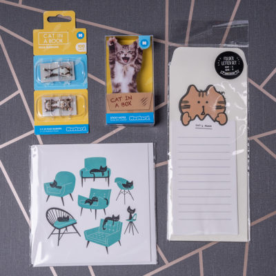 Cat themed stationery selection from inkdrops.co.uk - Ink Drops - Stationery by subscription